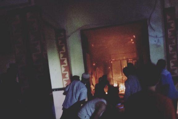 Kantor Kakam Kotagajah Terbakar