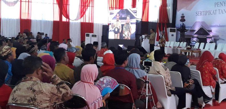 Sofyan Djalil Targetkan Seluruh Tanah di Lampung Bersertifikat Tahun 2023