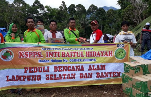 KSPPS IBH Buminabung Peduli Korban Tsunami di Way Muli Lamsel