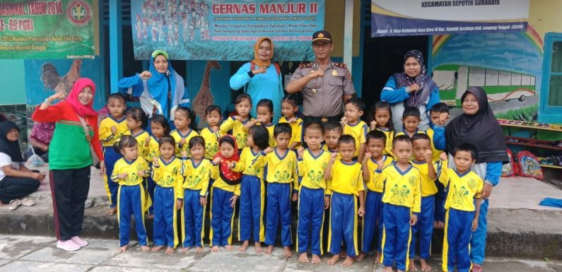 Kapolsek Seputih Surabaya Sambangi Taman Kanak-Kanak