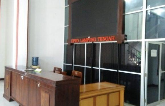 Pasca Penetapan Tersangka Oleh KPK, Kantor DPRD Lampung Tengah Sepi