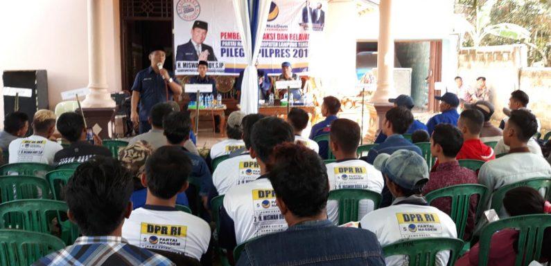 Saksi dan Relawan Rumbia Siap Menangkan NasDem