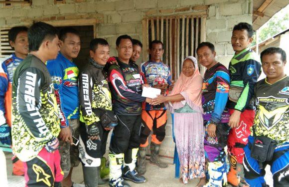 Komunitas Trail Tiga Kecamatan Beri Bantuan Korban Luka Bakar