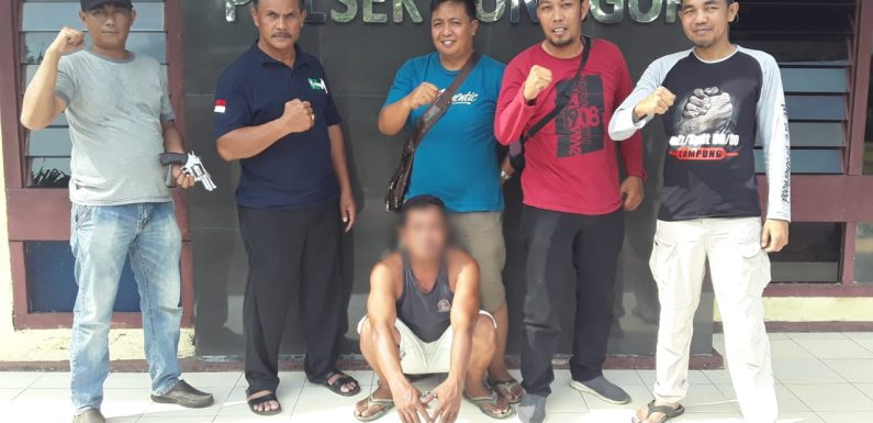 Bawa Senpi,Petani Asal Lamtim Ditangkap Jajaran Polsek Punggur