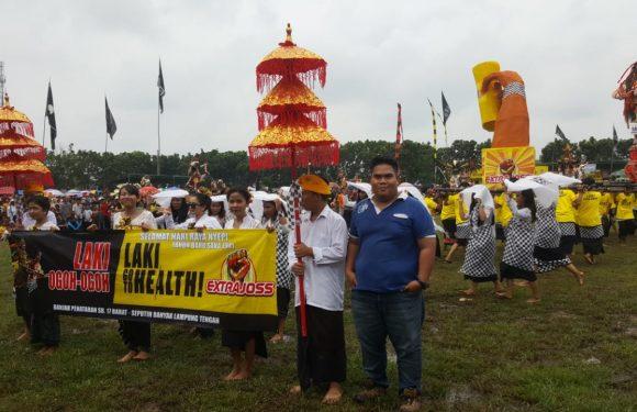 Ribuan Warga Meriahkan Parade Ogoh-Ogoh EXTRA JOSS di Seputihraman