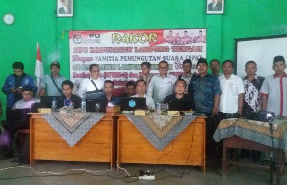 KPU Lamteng Gelar Rakor di Kecamatan Kalirejo
