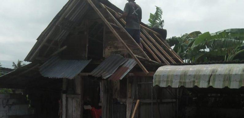 Kampung Rama Dewa Diterjang Puting Beliung, Puluhan Bangunan Rusak