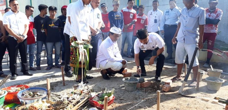 Akomodir Sarana Ibadah Umat Hindu, Lapas Gunungsugih-PHDI Lamteng Bangun Pura Dharmesti