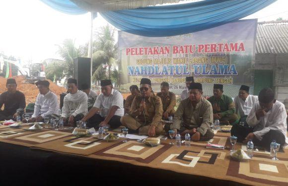 Peletakan Batu Pertama MWC NU Punggur, Loekman Sampaikan Manfaat Gotong-Royong