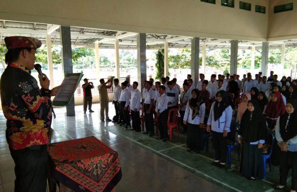 Panwascam Bandarsurabaya Lantik 113 PTPS di Gedung Pusiban