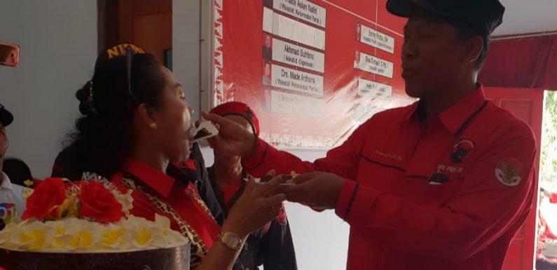 Rayakan Ulang Tahun ke 46 di Kantor DPC PDIP Lamteng, Ini Doa Ni Ketut Dewi Nadi