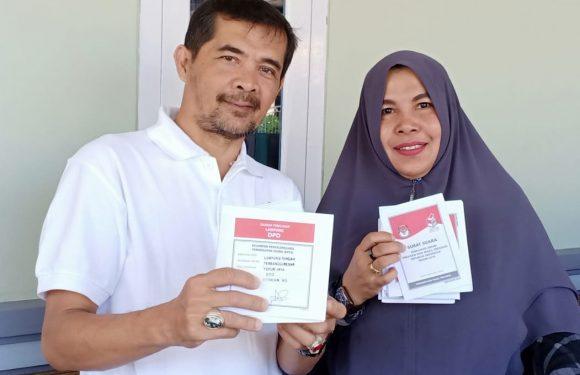 Ketua MKKS SMK Lamteng Nyoblos di TPS 053 Yukumjaya