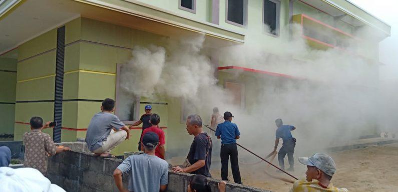 GKSBS Seputihjaya Terbakar, Diduga Api Berasal Dari Puntung Rokok
