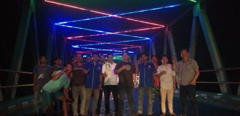 Ubah Kesan Negatif, Jembatan Way Lempuyang Dipasangi Lampu Hias