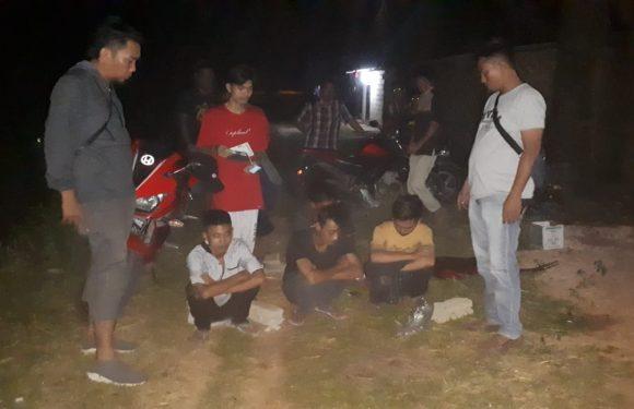Team Nanas Polsek Punggur, Bubarkan Lima Pemuda Warga Kota Gajah Konsumsi Miras