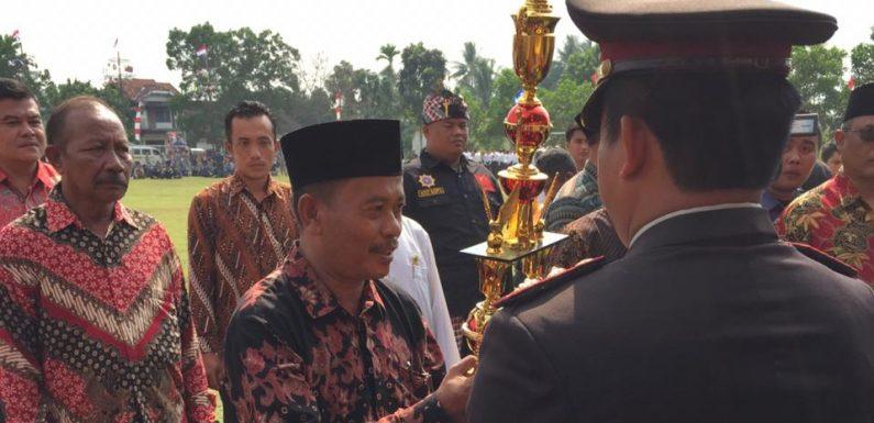 HUT Bhayangkara Ke-73, Kampung Variaagung Juara 1 Lomba Poskamling