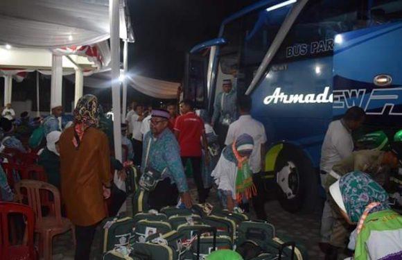 Kepulangan Pertama di Lampung, Jamaah Kloter 05 Tiba di Lamteng