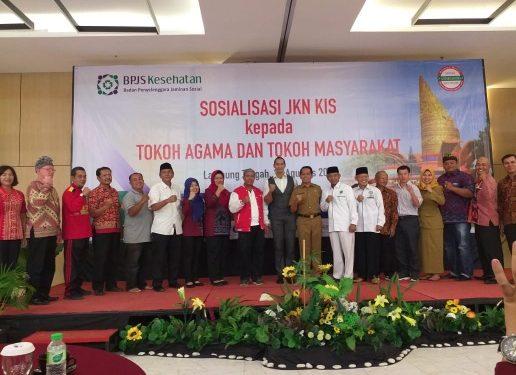 BPJS Kesehatan Metro Sosialisasikan JKN KIS Ke Tokoh Agama dan Masyarakat Lamteng