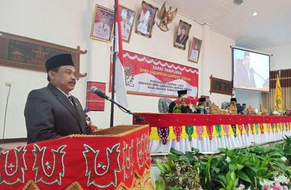 Sumarsono Jabat Ketua DPRD Lampung Tengah Sementara