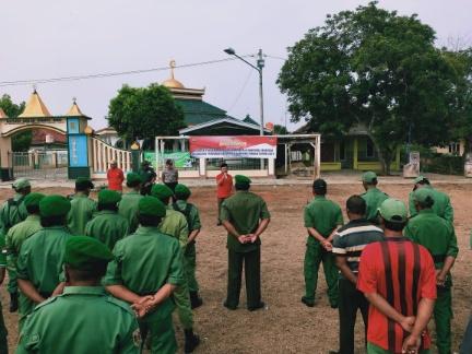 Jelang Pilkakam Serentak, Kecamatan Trimurjo Gelar Apel Linmas