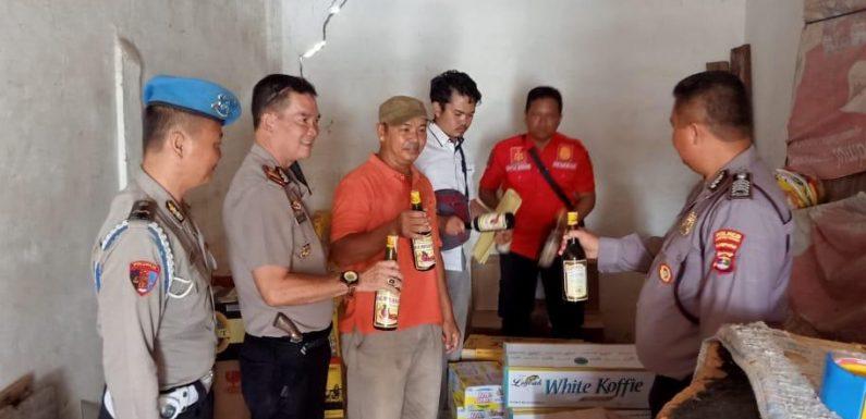 Operasi Cempaka Krakatau 2019, Polsek Seputihraman Amankan Puluhan Botol Miras