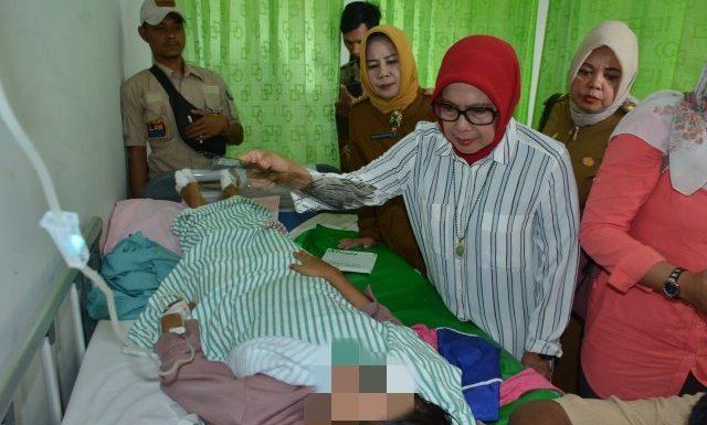 Ketua P2TP2A Lamteng Kunjungi Korban Curas dan Pelecehan Seksual