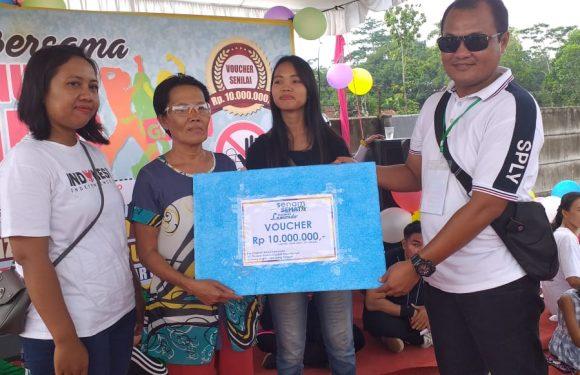 Senam Sehat Perum Nuwo Lamondo, Bagikan Voucher Rumah Rp10 Juta