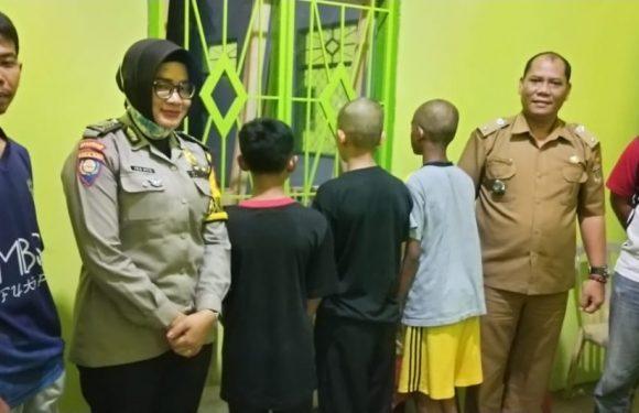 Kepergok Dibelakang Rumah, Tiga Siswa MBS Poncowati Ditangkap Warga