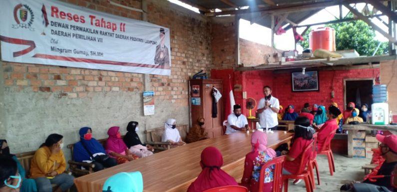 Reses di Lamteng, Mingrum Gumay Fokus Pengaman Sosial dan Pencegahan Covid-19