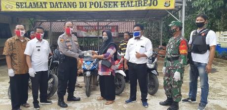 Polsek Kalirejo  Berhasil Ungkap Curas, Serahkan Barang Temuan 5 Unit Sepeda Motor Kepada Pemiliknya