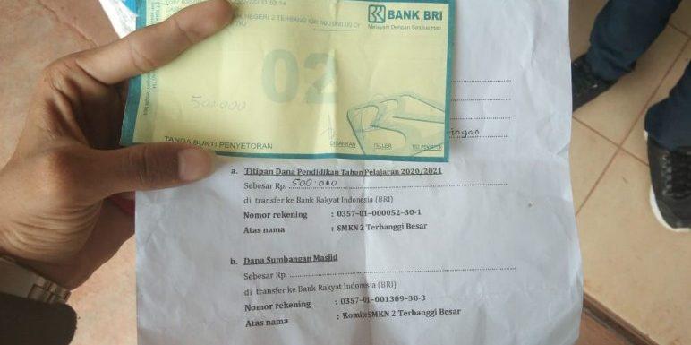 Penarikan IPP Rp3,5 Juta di SMKN 2 Terbanggibesar Tuai  Protes Wali Murid