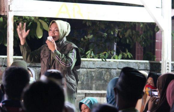 Ronda di Rumbia, Nessy Disambut Antusias Ribuan Warga