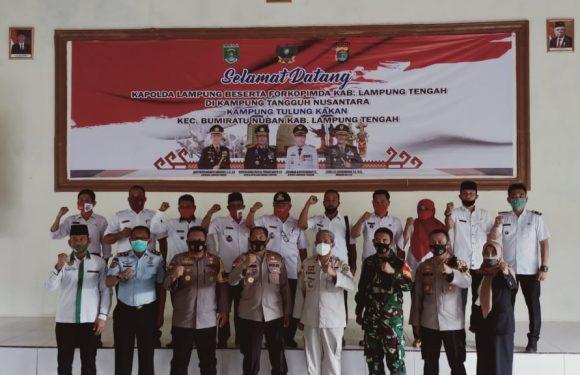 Wakapolda Lampung dan Bupati Lamteng Launching Kampung Tangguh Nusantara