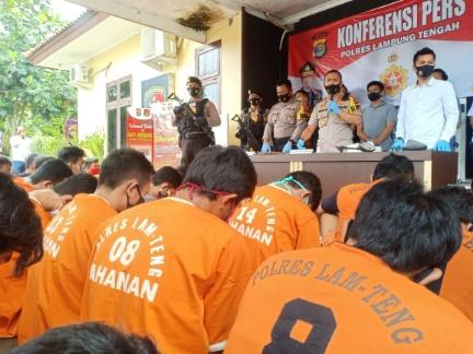 Ops Sikat Krakatau Polres Lamteng Jaring 51 Tsk, Didominasi Kasus Curat