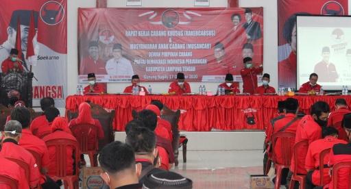 Hasil Rakercabsus dan Musancab PDIP Perjuangan Lamteng,  Menangkan Loekman-Ilyas!