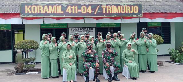 Jalin Silaturahmi ke Koramil Trimurjo, Dandim 0411/LT Apresiasi Kinerja Anggota