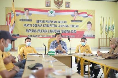 Jelang Muscam dan Musdes, DPD II Partai  Golkar Lamteng Gelar Rapat Perdana