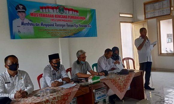 Kampung Purwoadi Gelar Musrenbang Tahun Anggaran 2022