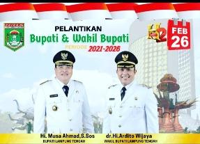 Besok, Bupati dan Wakil Bupati Lamteng Periode 2021-2026 Dilantik