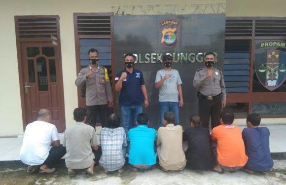 Polsek Punggur Tangkap Delapan Penjudi  Koprok