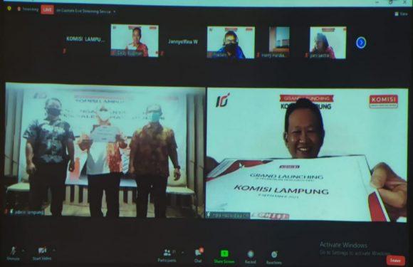 Pengurus DPD Komisi Lampung 2021-2023 Resmi Dilantik Secara Daring