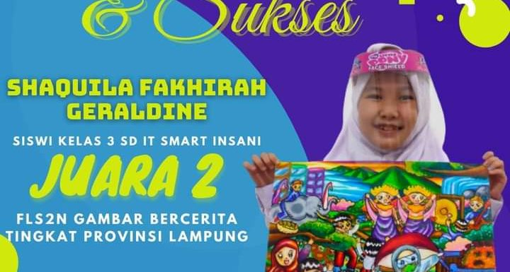 Siswi SD IT Smart Insani Bandarjaya Raih Juara II FLS2N Provinsi Lampung, Disdikbud Lamteng Beri Apresiasi
