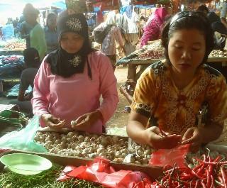 Pasar Kalirejo  Belum Ada Lonjakan Pembeli