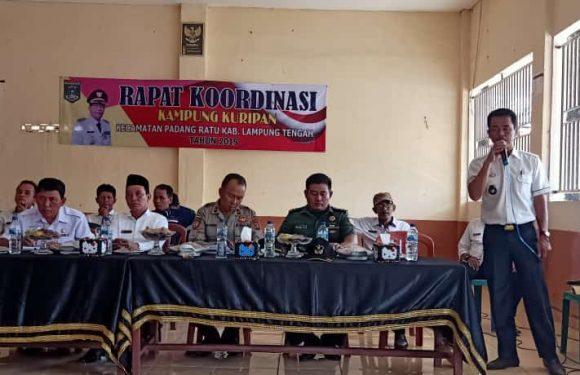 Rakor Kecamatan Padangratu di Kampung Kuripan