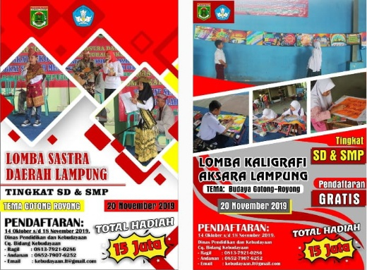 Disdikbud Lamteng akan Gelar Lomba Sastra Daerah dan Kaligrafi Aksara Lampung