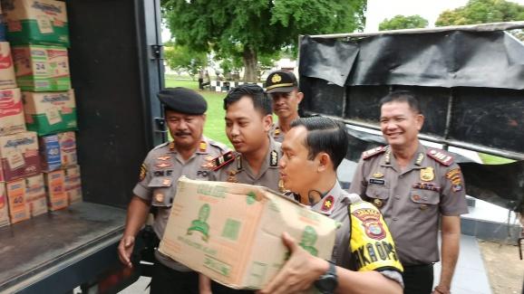 Polres Lampung Tengah Kirim Bantuan Ke Tanggamus