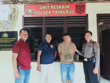 Nongkrong di Warung Soto, Pemuda Asal Kota Metro Diamankan Polsek Trimurjo