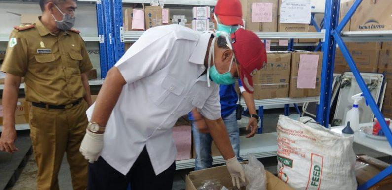 Bupati Cek Ketersediaan Obat dan Disinfektan di Diskes Lamteng