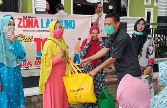 Peringati Hari Jadi ke-10 Tahun, Zona Lampung Gelar Baksos