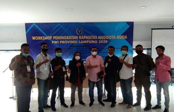 Buka Workshop, Ketua PWI Lampung Beri Apresiasi Peserta